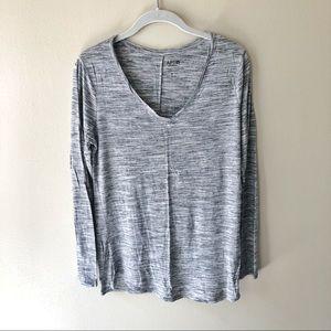 Apt. 9 • heather gray v-neck tunic